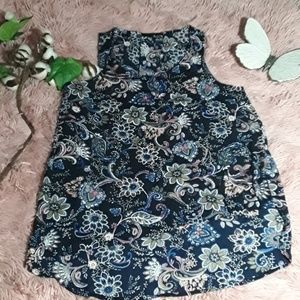 Ro&De floral sleeveless top Sz S